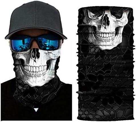 Nuoxinus Skull Face Mask Half Seamless 3D Tube Mask Skeleton Balaclava Bandana Durable Thin product image
