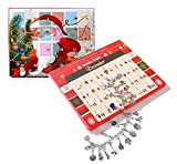 Deesos Conjunto de collar con 22 abalorios de Adviento con calendario de Adviento, cuenta atrás, calendarios de Adviento para niños y adultos, Navidad regalos
