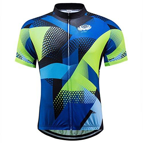 Mens Cycling Shirts Short Sleeve Quick Dry Bicycle Jerseys Clothing Biking Tops XL