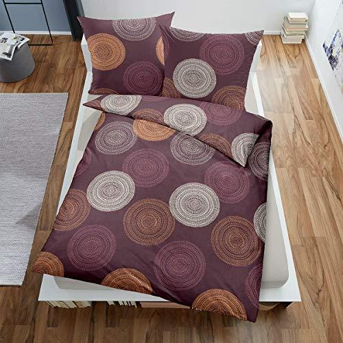 Dormisette Edelbiber Bettwäsche 9400 lila 1 Bettbezug 155 x 220 cm + 1 Kissenbezug 80 x 80 cm
