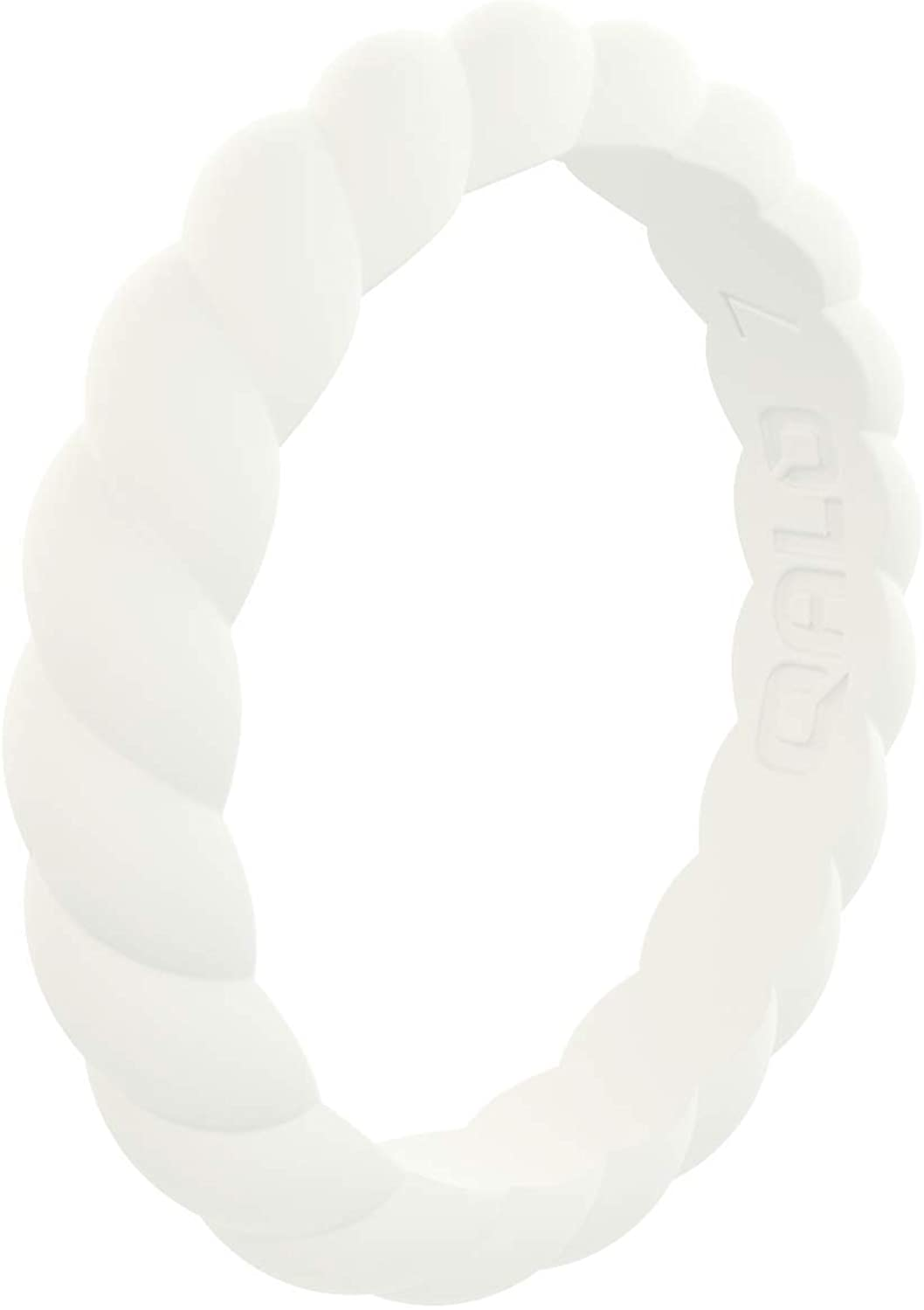 QALO Women's Twist Stackable Silicone Ring Collection