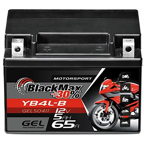 BlackMax YB4L-B GEL Rollerbatterie 12V 5Ah CB4L-B 50411 wartungsfrei FB4L-B GB4L-B SLA4L-BS