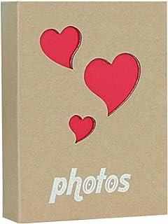Lidiper Álbum de Fotos, 10x15cm/100 Hojas Kraft Hueco Album Fotos Álbumes de Fotos con Bolsillo para Bebés, Niñas, Mujere...