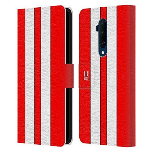 Head Case Designs Roter Rennenwagen Transportmittel Farbig Leder Brieftaschen Handyhülle Hülle Huelle kompatibel mit OnePlus 7T Pro