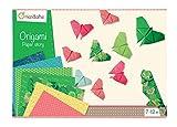 Avenue Mandarine Caja creativa de origami Kit de iniciación al origami para niños a partir de 7 años- 20 hojas de origami 15x15cm, 20 hojas de motivos 20x20cm, Instrucciones con 10 diagramas, 42720O