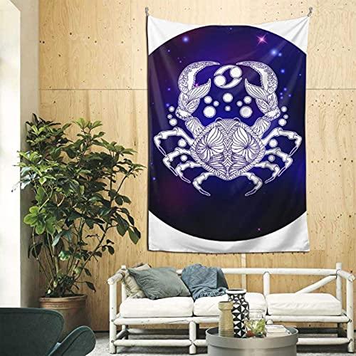 N\A Tapiz de Sala de Estar Colorido Fresco cáncer Zodiaco horóscopo Yall decoración de Pared Arte de Pared para apartamento Dormitorio telón de Fondo decoración del hogar