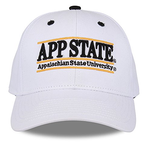 NCAA Appalachian State Mountaineers Unisex NCAA The Game bar Design Hat, White, Adjustable