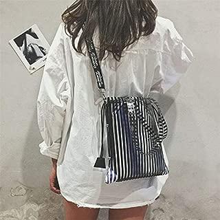 Fashion Single-Shoulder Bags Leisure Fashion Slant Shoulder Bag Handbag (Black) (Color : Black)