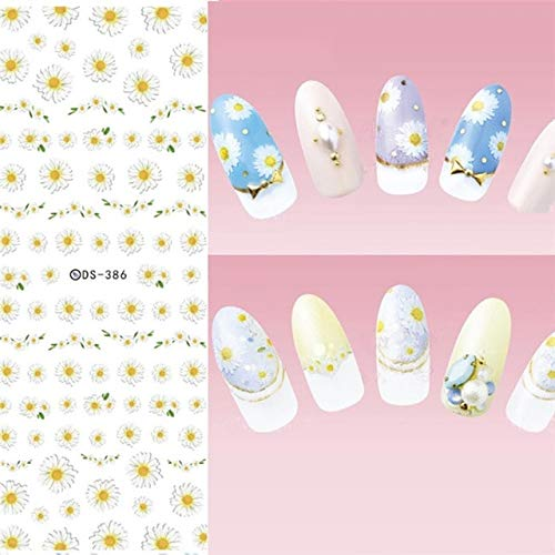 Wanddecoratie kunst 1 van de overdracht blad bloem water nagel reeks van de veer decals kunst lavendel nieuwe nagel sticker art nagel,voorbeeld 386