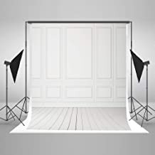 Kate 5x7ft White Grey Wall Photography Backdrops Classic Vintage Texture Wood Floor Background Portrait Backdrop for Photo Studio