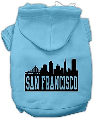 Mirage Pet Products Free Shipping New San Spring new work one after another Francisco Screen Skyline Hoodi Print