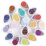 Yxp 40-Pack Craft Sello Almohadilla De Tinta Tampón De Tinta Multicolor DIY Craft para El Dibujo Niños De Huellas Digitales, Papel, Pulpa Y Litografías,Multi Colored