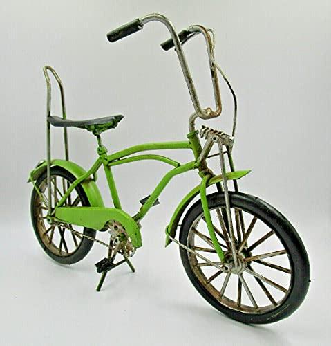27cm Bonanza Rad in grün Retro Fahrrad Nostalgie Blech Modell Kult Fahrrad Standmodell Geschenk Velo Kinderzimmer Deko Metall Dekoration