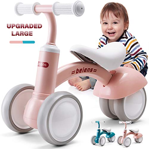 beiens Upgraded Large Baby Balance Bike for 1 Year Old (Pink)