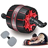 Fixdono Wide Ab Roller Wheel for Abs Workouts, 9 inch Ab Wheel Exercise Equipment with Knee Mat for Home Gym Abdominal Exercise,Fitness Abs Wheel for Core Workouts for Men and Women