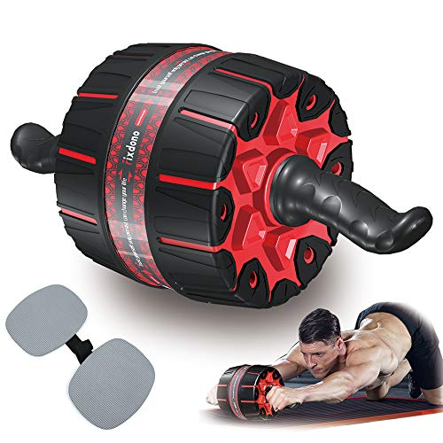 Fixdono Wide Ab Roller Wheel for Abs Workouts, Ab Wheel Exercise Equipment with Knee Mat for Home Gym Abdominal Exercise,Fitness Abs Wheel for Core Workouts for Men and Women