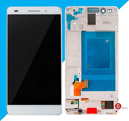 Premium Compleet LCD-display touchscreen glas digitizer met frame voor Huawei Honor 7 (wit) - Compleet LCD-display Assembly met frame - incl. NANO Profi 3-in-1 reinigingsset - wit wit wit - NIEUW