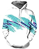 Chiclook Cool 3D Hoodies 90'S Jazz Solo Paper Cup Men Hip Hop Pullover Hooded