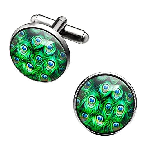 AiKoch Camisa De Joyería Gemelos para Hombre Botones Botones Reloj En Forma De Boda del Enlace del Manguito Casual (Metal Color : 13)