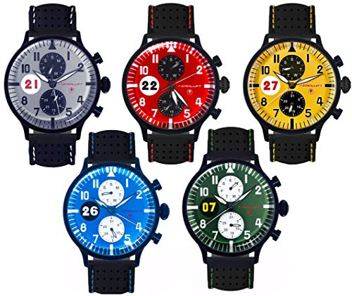 Colección Racing Hombre de 5 Relojes de piloto de Coches de Carreras.