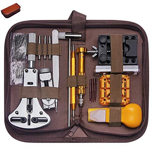 Herramienta de reparación de relojes Kit de reparación de relojes Juego de herramientas Reparación de relojes Juego de 149 piezas Desmontaje Reemplazo de batería