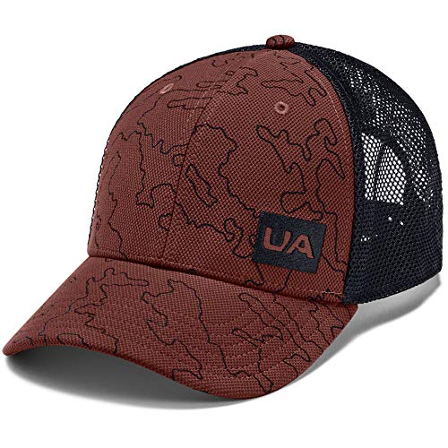 UNDLZ|#Under Armour Cappello Trucker Blitzing Cappello, Uomo, Cinna Red / Black / Cinna Red (688), OSFA
