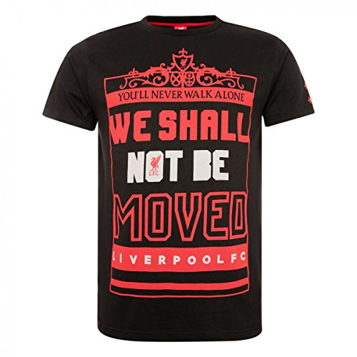 FC Liverpool Shall Not to Be Moved T-Shirt (Black, S)