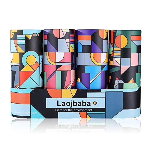 Laojbaba Car Tissues (4 Canisters/200 Tissues/3-Ply) - Disposable Face Towel,Canned Tissue,Perfect For Car Cup Holder,Durable,Thick &Convenient,Strong water absorption