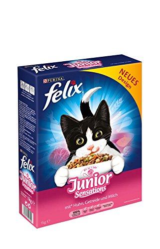 FELIX Junior Sensations Katzennahrung von Purina, 7er Pack (7 x 1 kg)