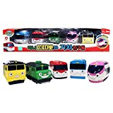Titipo and Little Train Friends - Juego de 5 trenes de juguete