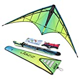 Jazz 2.0 Dual-line Sport Kite, Aurora, Ready to Fly with Flying Lines, Wrist Straps, Winder, Instructions and Storage Bag