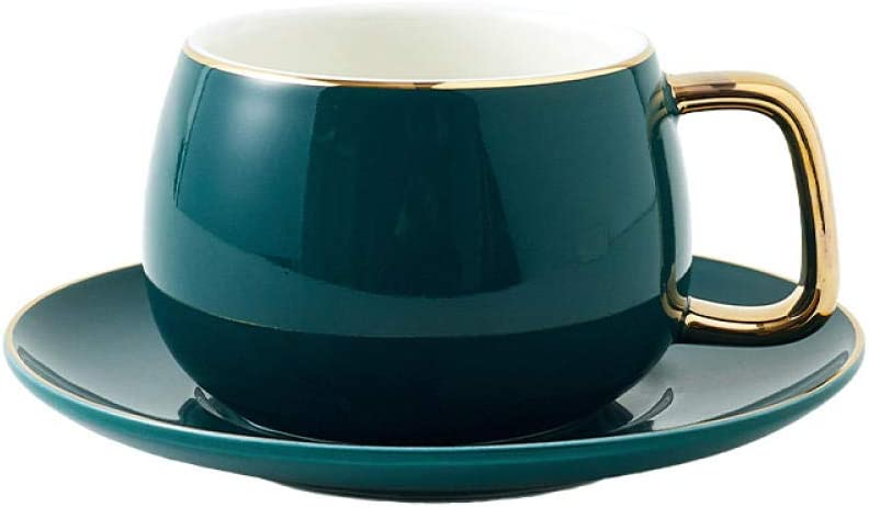 Color cupLuxury Gold Inlay Ceramic Cup Coffee Saucer Max 86% OFF and Ranking TOP8