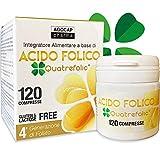 Acido Folico Quatrefolic,120 compresse di Acido Folico in forma Biologicamente Attiva, assorbimento fino a tre volte maggiore | per Gravidanza e Fertilità, Riduce l'affaticamento | Agocap Pharma
