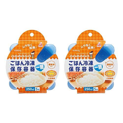 【まとめ買い】キチントさん ごはん冷凍保存容器 一膳分 250ml 5個入り×2個パック