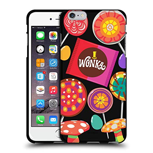 Head Case Designs Ufficiale Willy Wonka And The Chocolate Factory Caramelle Grafiche Cover Nera in Morbido Gel Compatibile con Apple iPhone 6 Plus/iPhone 6s Plus