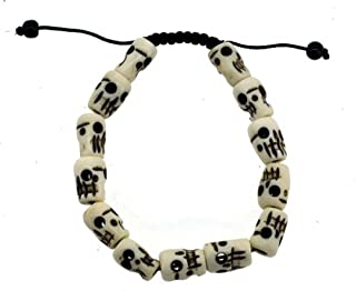 Hinky Imports Tibetan Meditation Yak Bone Skull Bead Bracelet Buddhist Prayer Beads Wrist Mala