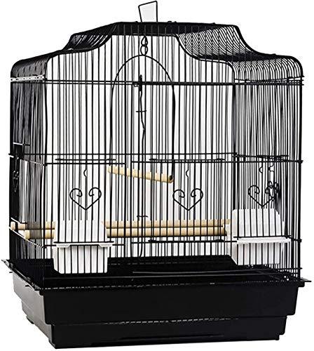 Gabbia per uccelli durevole e rispettosa dell'ambi Gabbia di volo per parrocchietti gabbie pappagallo per grandi uccelli, portatile grande gabbia per uccelli per animali domestici, ferro decorativo pa