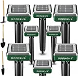 4. Solar Mole Repellent Ultrasonic 8 Pack Outdoor Powered Sonic Deterrent - Mole Stopper Scare Vole for Lawn Garden & Yard Home - Pest Control No Killing - Twice The Size and Power!