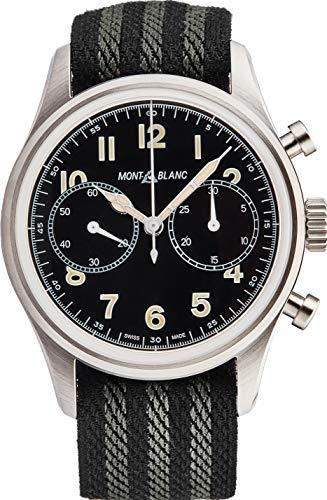 Montblanc Uhr 1858 Chronograph Automatik Zifferblatt schwarz 42 mm
