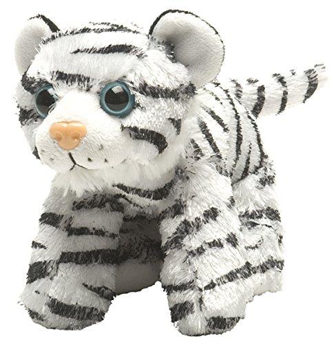 Wild Republic - Hug'ems, Peluche Tigre, Color Blanco, 18 cm