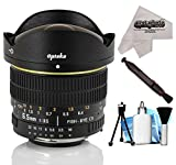 Opteka 6.5mm f/3.5 HD Aspherical Fisheye Lens with Cleaning Bundle for Nikon D500