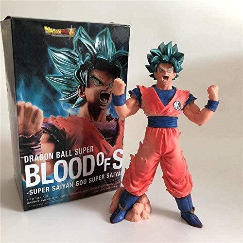 Figuras de accion Dragon Ball Z Goku Blue Super Saiyan King Fist Brush Saiyan Blood Outbreak Cell Vegeta PVC Figure Collection 19cm