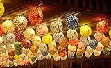 European - Pack de 50 farolillos de Feria Colores con Lunares