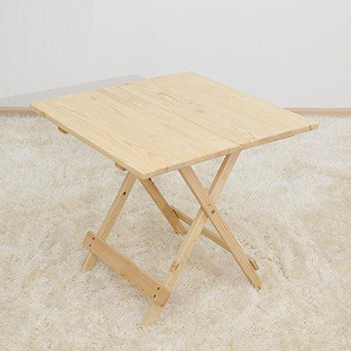 GAOJIAN Table Pliante Table Basse en Bois Massif en Bois Massif Table à découpe Pliante Tables carrées