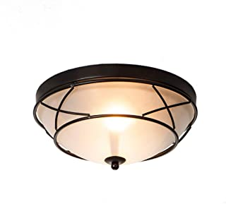 Loclgpm 2 Light Glass Black Finish Semi-Flush Mount...