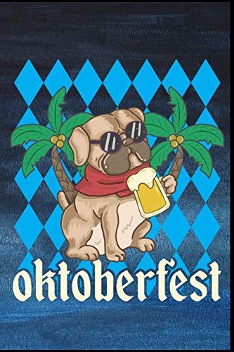 Oktoberfest: Oktoberfest Mops Hund Dirndl Lederhose Bier Bierkrug Fassbier Brezel Bierflasche Geschenk (6
