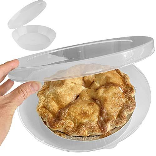 Evelots Pie Keeper-Fresh-Easy Carry-Hinged Lid-Cookie/Donut-Fridge/Freezer-Set/2