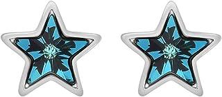 Fashion Crystals - Arete con Cristales Auténticos para Mujer - Arete Estrella Sitara - Baño de Oro, Oro Rosado y/o Rodio-E...