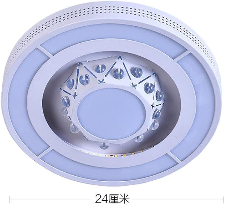 YUI LED Acryl Deckenleuchte Runden Modern Kreativ Geometrie Entwurf Eisen Deckenlampe Wohnzimmer Schlafzimmer Esszimmer Deckenleuchten, 32W 25cm