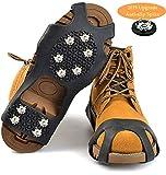 HONYAO Glace Traction Crampons Antidérapant Chaussures/Bottes 10 Clous Neige Grips Crampons Pointes pour Hommes Femmes Enfants en...
